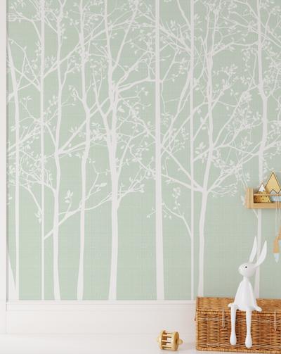 Mural - Silhouette Mint (Per Sqm)