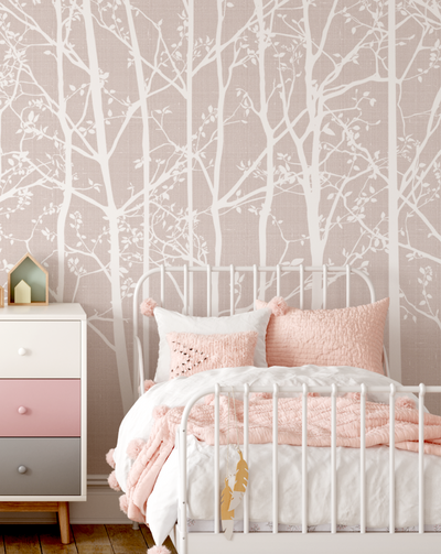 MURAL - SILHOUETTE DUSTY PINK (PER SQM)