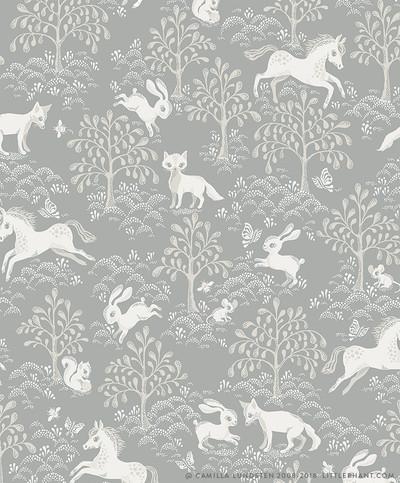 FAIRYTALE FOX - DUSTY BLUE