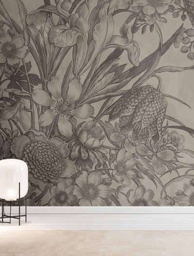 MURAL - INK FLOWERS (PER SQM)