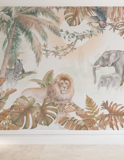 Mural - Jungle Animals Hazel (Per Sqm)