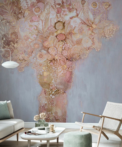 MURAL - BLUSHING BOUQUET (PER SQM)