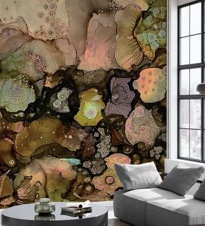 Mural - Warm Floral (Per Sqm)