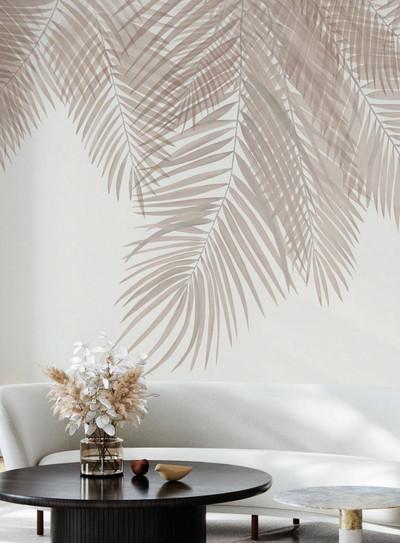 Mural - Hanging Palm Leaves Sepia Pink (Per Sqm)