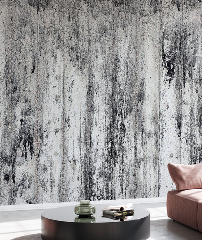 Mural - Black Cement Wall (Per Sqm)