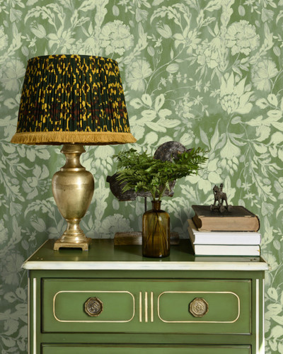 Flowery Ornament - Bud Green