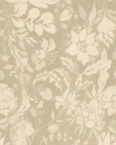 Flowery Ornament - Taupe