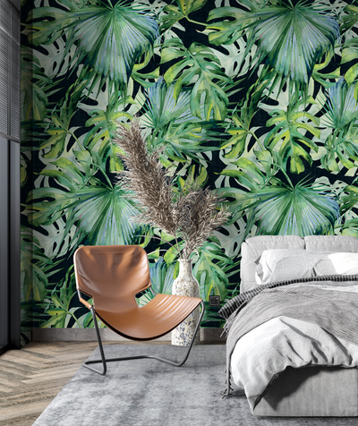 Mural - Palms On Black (Per Sqm)