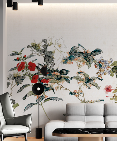 Mural - Silk Chinoiserie Cream (Per Sqm)