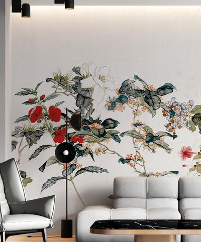 Mural - Silk Chinoiserie Cream (Per Sqm)