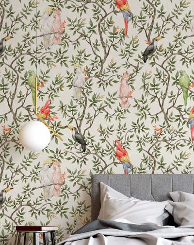 Mural - Botanical Birds (Per Sqm)