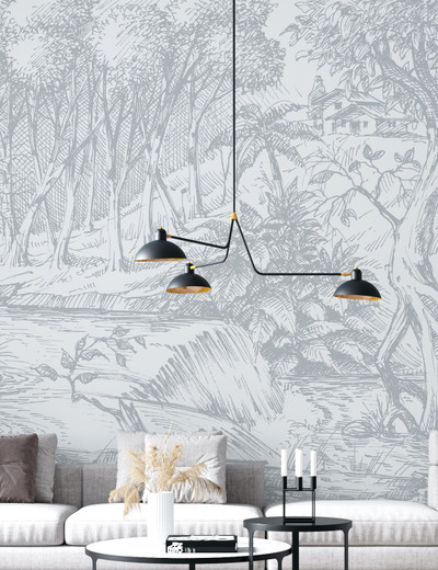 Mural - Meadow Pale Grey(Per Sqm)