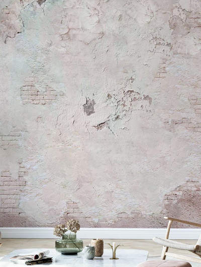 Mural - Cracked Rosy Brick (Per Sqm)