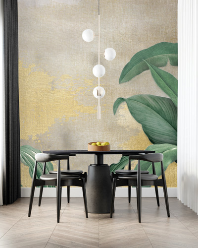 Mural - Sterling Banana Leaf (Per Sqm)