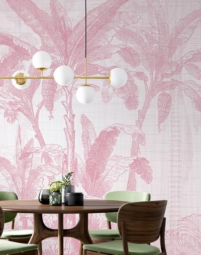 Mural - Botany II Pink (Per Sqm)