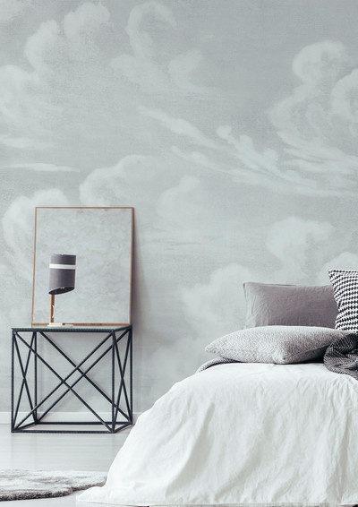 Mural - Clouds Soft Grey (Per Sqm)