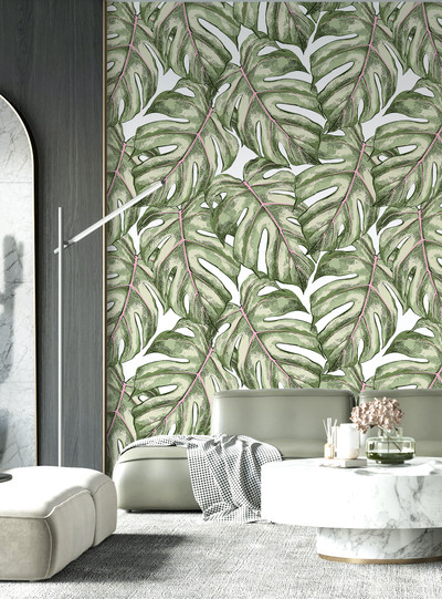 Mural - Monstera Palm Leaf (Per Sqm)