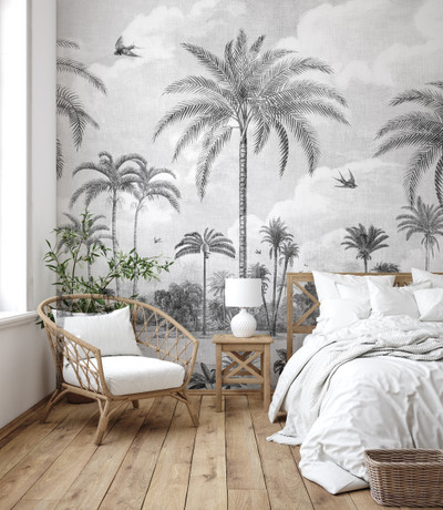 Mural - Vintage Jungle Grey (Per Sqm)