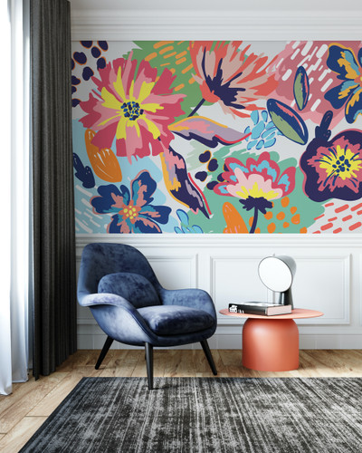 Mural - Abstract Floral Multi (Per Sqm)
