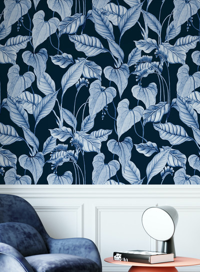 Mural - Lush Navy Blue (Per Sqm)