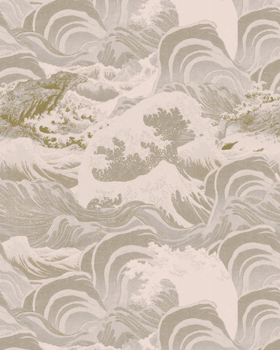 Sea Waves - Neutral Taupe
