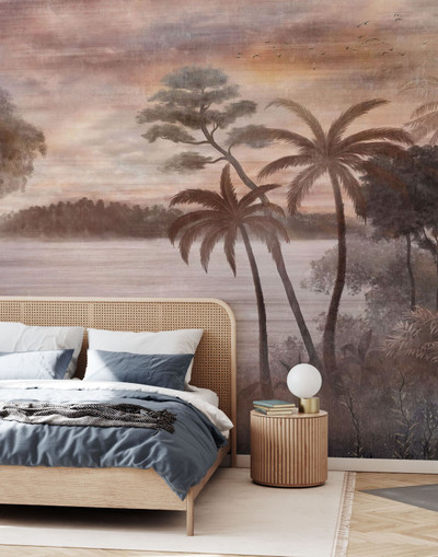 Mural - Tropical Misty Lake (Per Sqm)