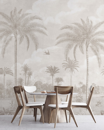 Mural - Vintage Jungle Cream (Per Sqm)