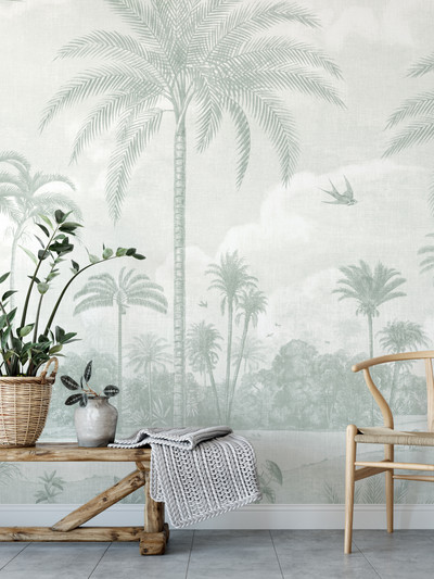 Mural - Vintage Jungle Sage (Per Sqm)