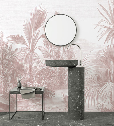 Mural - Toba Jungle Pink (Per Sqm)