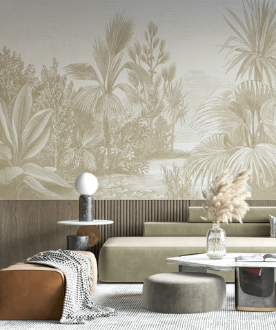 Mural - Toba Jungle Sepia (Per Sqm)