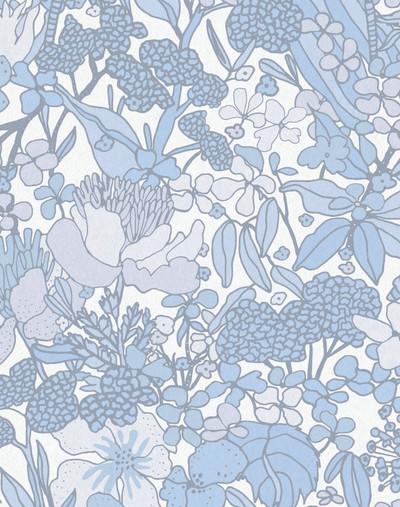 Flora Impression - Pastel Blue