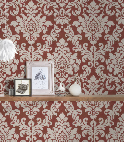 Perry Damask - Red