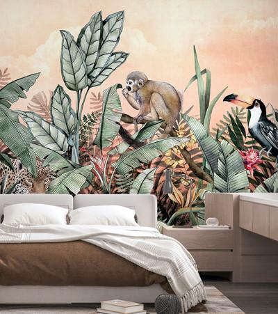 Mural -Jaguar Cantaloupe (Per Sqm)