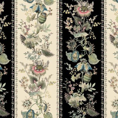 Flora Fantasia - Noir Stripe