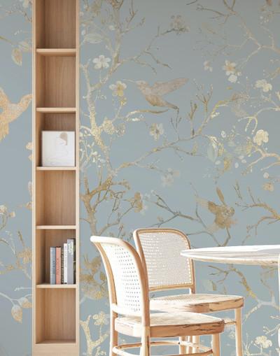 Mural - Chinoiserie Sky Blue (Per Sqm)