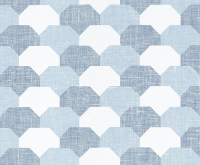 Hidden Hills - Blue / White