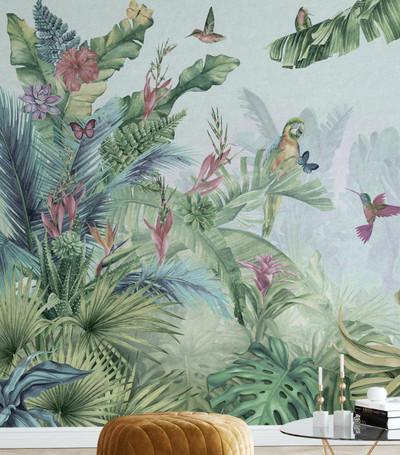 Mural - Parrots Paradise (Per Sqm)