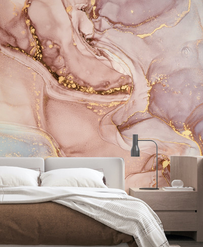 Mural - Fluid Pink / Sky (Per Sqm)