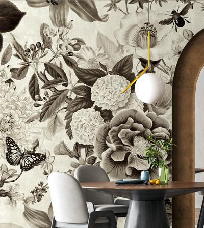 Mural - Fairy Garden Sepia (Per Sqm)
