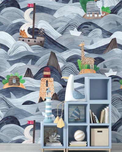 Mural - Ahoy At Sea (Per Sqm)