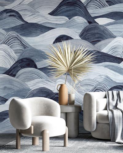 Mural - Watercolour Waves (Per Sqm)