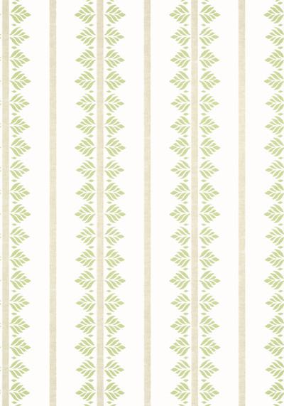 Fern Stripe - Green / White