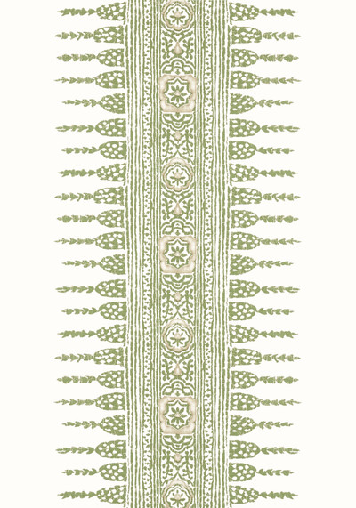 Javanese Stripe - Green / White