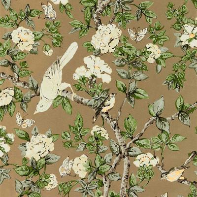 Caverley - Gold Metallic / Gardenia Green