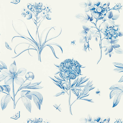 Etchings & Roses - China Blue