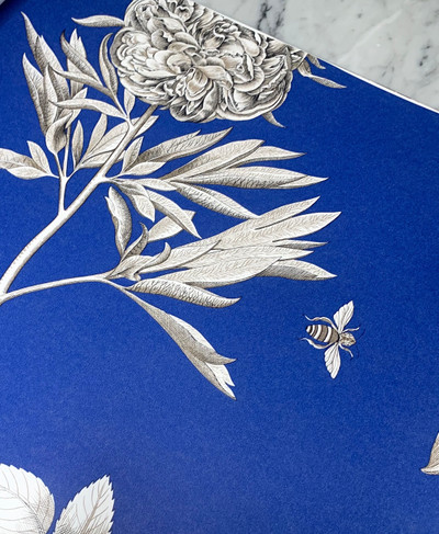 Etchings & Roses - French Blue