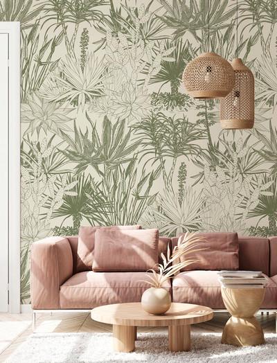 Mural - Succulent Olive (Per Sqm)