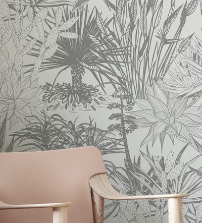 Mural - Succulent Grey (Per Sqm)