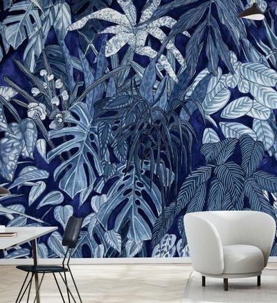 Mural - Tanglewood Wall Cobalt (Per Sqm)