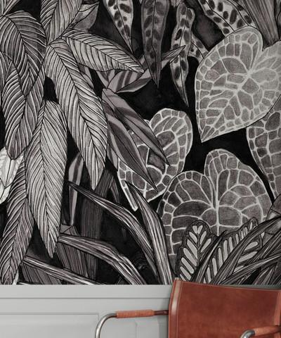 Mural - Tanglewood Wall Black (Per Sqm)